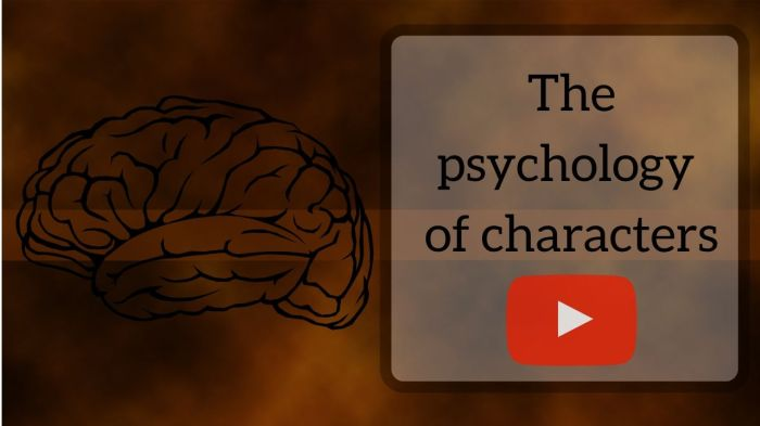 The psychology of characters